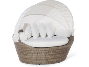 Elégant lit de jardin avec capote modulable