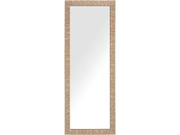 Miroir suspendu rectangulaire avec cadre laiton au style moderne