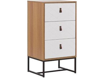Commode haute chiffonnier moderne avec 3 tiroirs pratiques