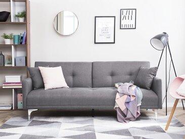 Canapé-lit clic-clac en tissu gris