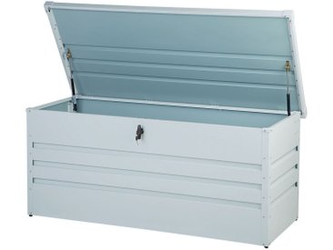 Coffre de rangement pour jardin ou terrasse 400L gris clair
