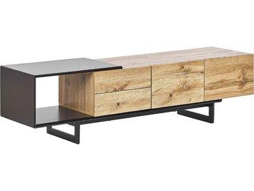 Meuble tv design avec 2 tiroirs et compartiments à portes