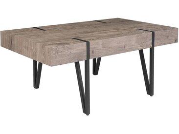 Table basse au design industriel