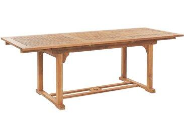 Grande table à rallonges en bois d'acacia