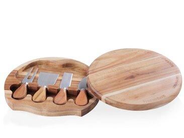 Plateau à fromage rotatif avec couteaux et fourchette
