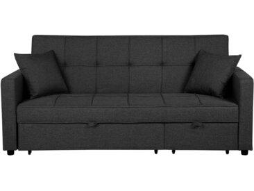 Canapé convertible en tissu gris foncé