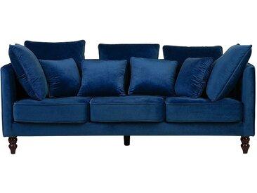 Canapé en tissu bleu paon FENSTAD
