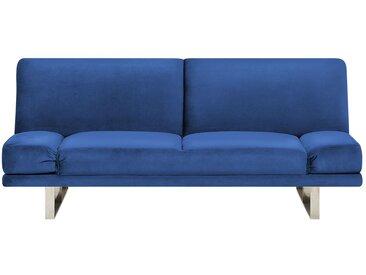 Canapé-lit clic-clac en velours bleu marine haut de gamme