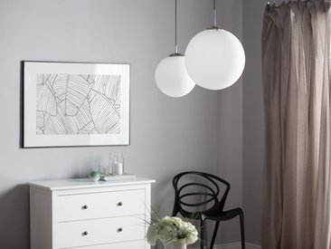 Lampe suspension boule BARROW L