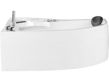 Baignoire balnéo d'angle côté droit avec éclairage LED intégré