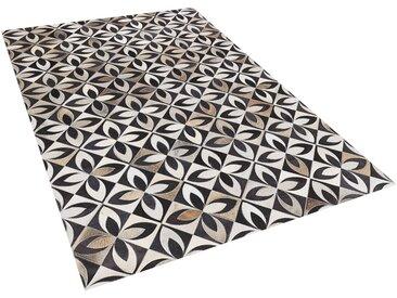 Tapis patchwork à motifs en peau de vache de 3 couleurs tendance 160 x 230 cm