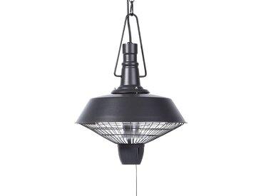 Chauffage de terrasse électrique en métal noir