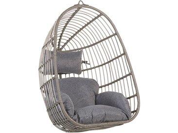 Fauteuil suspendu gris avec coussin d'assise inclus