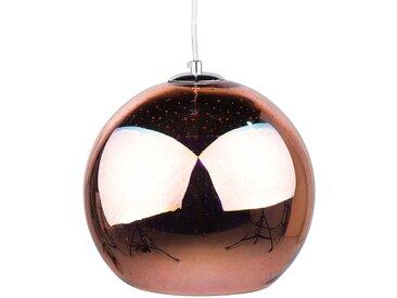 Lampe suspension en forme de boule cuivré SESSERA