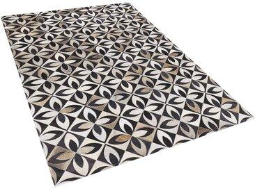 Tapis patchwork à motifs en peau de vache de 3 couleurs tendance 140 x 200 cm