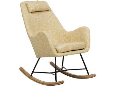 Chaise à bascule jaune