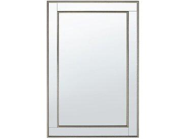 Miroir mural avec cadre en verre finition dorée et argentée