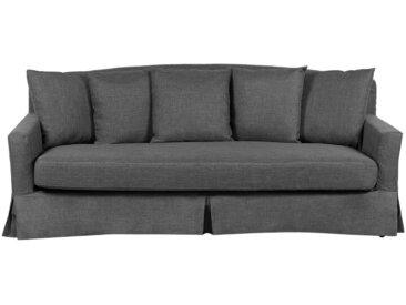 Canapé 3 places gris foncé rembourré avec housse amovible