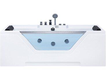 Baignoire balnéo moderne avec surface vitrée