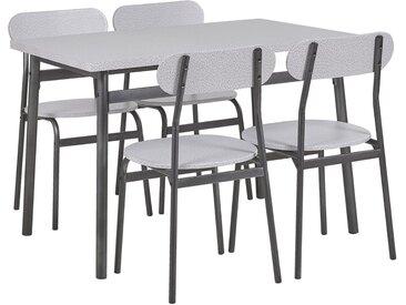 Salle à manger complète table 110 x 70 cm et 4 chaises au style rétro