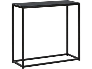 Table console noire au style moderne