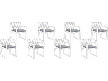 Lot de coussins d'assise gris