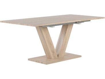 Table de salle à manger extensible imitation bois