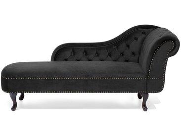 Méridienne en velours noir au design glamour