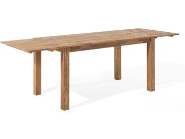 Table en bois avec deux rallonges 85 x 180 cm