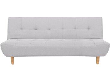 Canapé-lit clic clac 3 places avec revêtement en tissu gris clair
