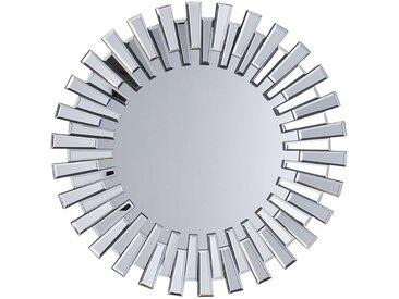 Miroir rond argenté élégant et moderne