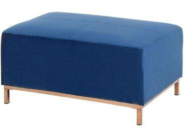 Pouf de type Ottoman en velours bleu foncé