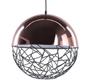 Magnifique lampe suspendue de couleur cuivrée