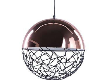 Lampe suspension en métal cuivré PADMA