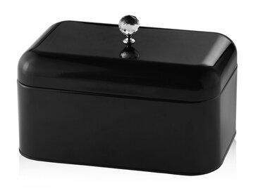 Boîte à pain décorative en métal noir