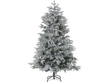 Sapin de Noël artificiel vert avec effet neige blanche naturelle 210 cm de hauteur