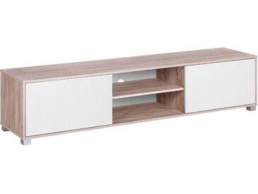 Meuble TV moderne blanc et bois clair