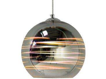 Lampe suspension en forme de boule argenté NURE