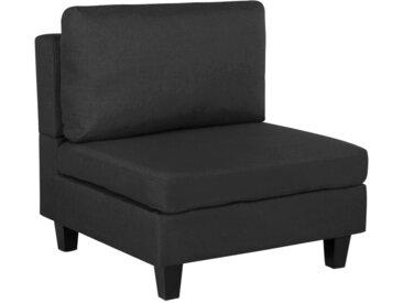 Module 1 place - fauteuil noir pour canapé modulable