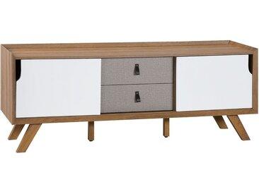 Meuble TV avec 2 tiroirs au style contemporain
