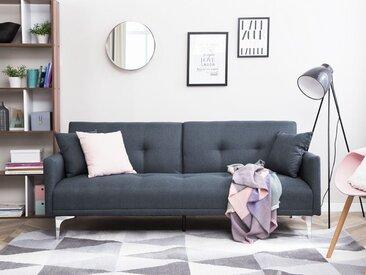 Canapé-lit clic-clac en tissu bleu foncé