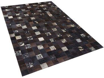 Tapis patchwork en peau 200 x 300 cm au style rustique