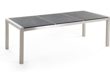 Table de jardin élégante avec plateau en granit