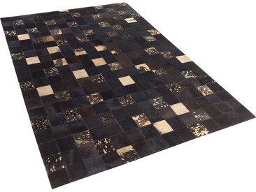 Tapis marron en peau de vache 140 x 200 cm BANDIRMA