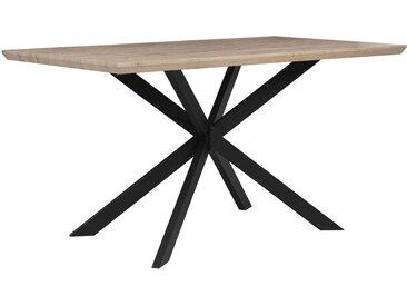Table de salle à manger au style industriel et moderne