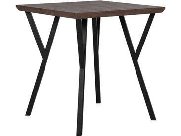 Table de salle à manger carrée au style industriel