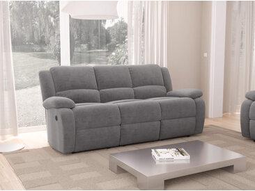 Canapé de Relaxation électrique 3 places Microfibre DETENTE - 192 x 93 x 98 cm - Usinestreet