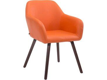 Timwood Experience Chaise Visiteur Achat V2 similicuir , orange CLP  orange