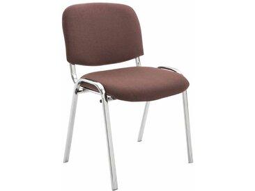CLP Chaise visiteur Ken support chromé tissu, marron CLP  marron