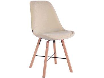 CLP Chaise de visiteur Laffont en Velours, crème CLP  crème